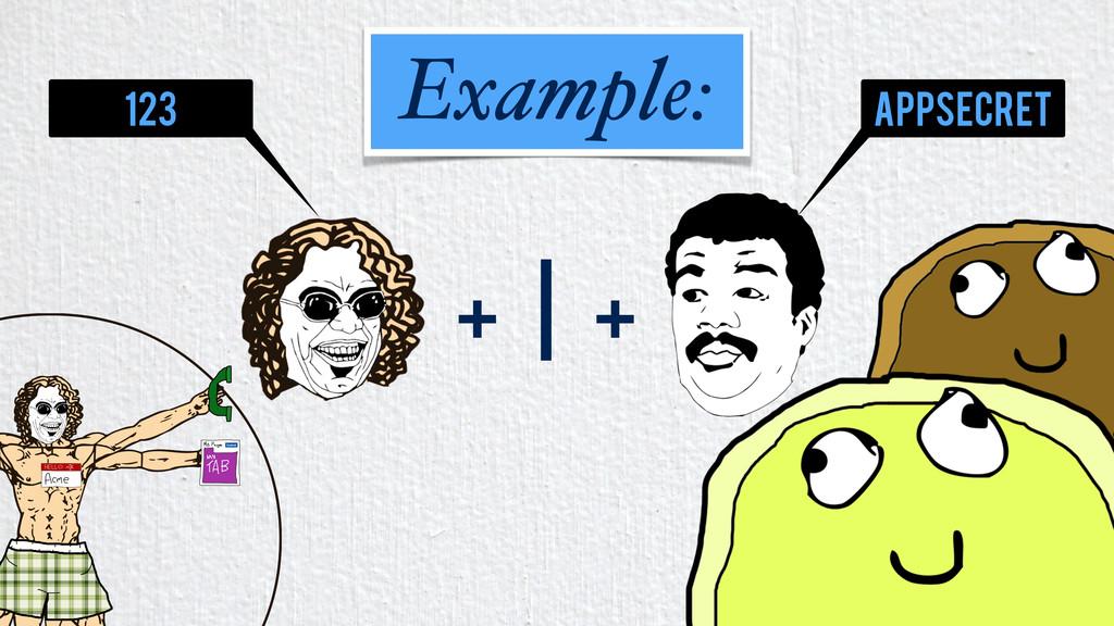 + | + Example: 123 appsecret