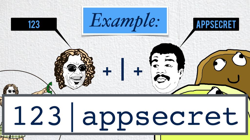 + | + 123|appsecret Example: 123 appsecret