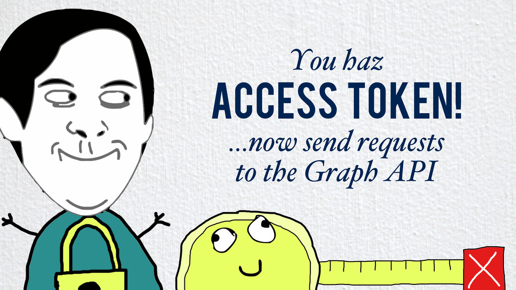 You haz Access token! …now send requests to the...