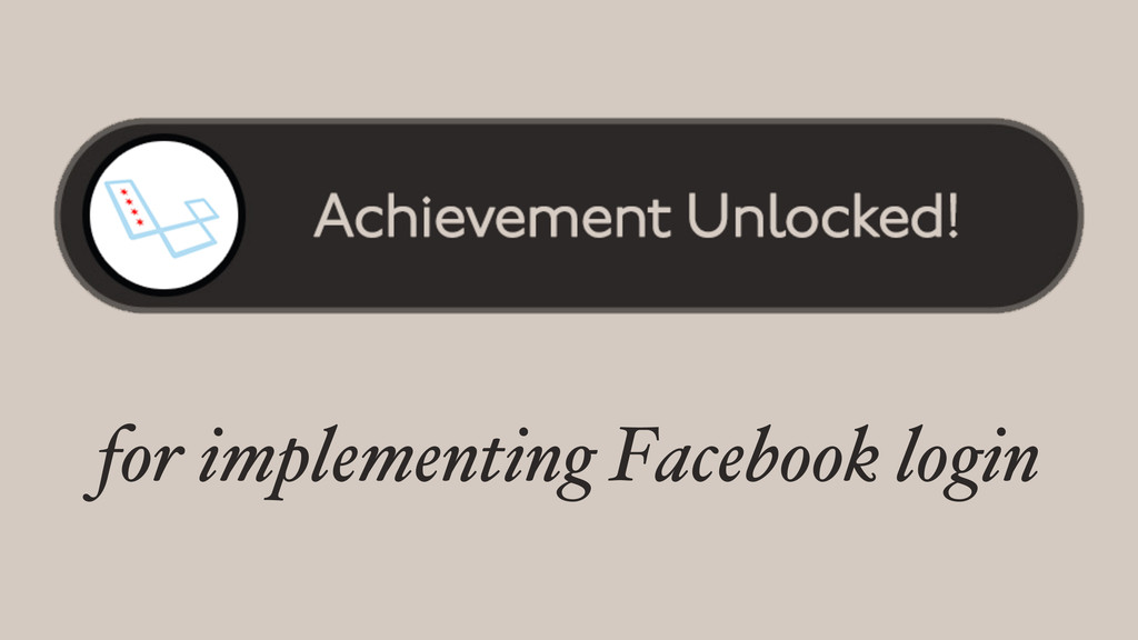 for implementing Facebook login