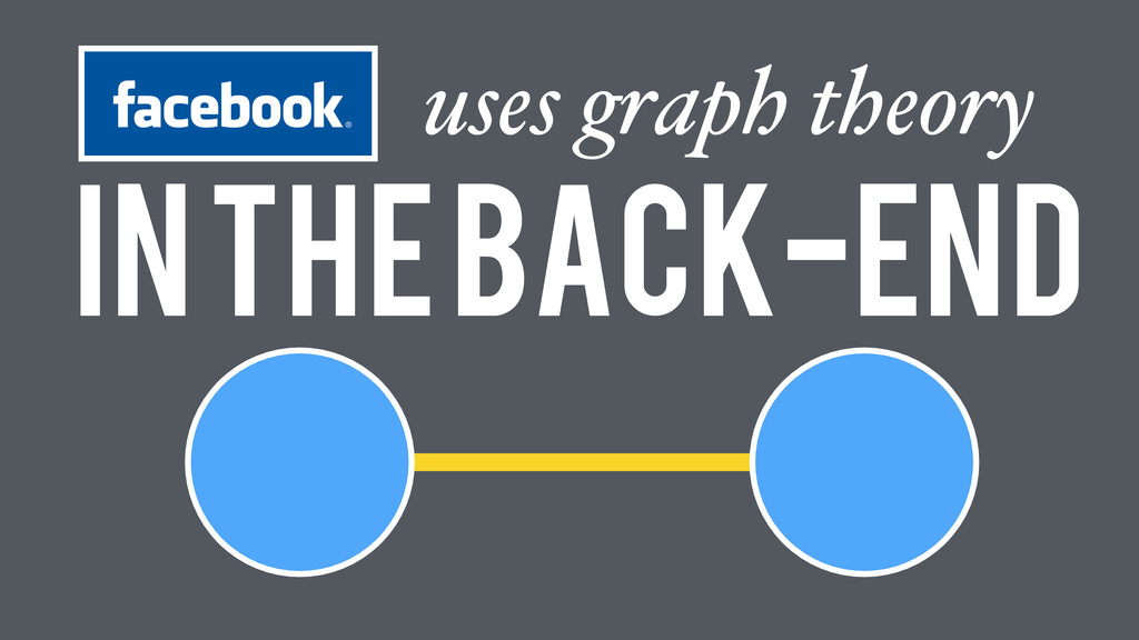 In the Back-end uses graph theory
