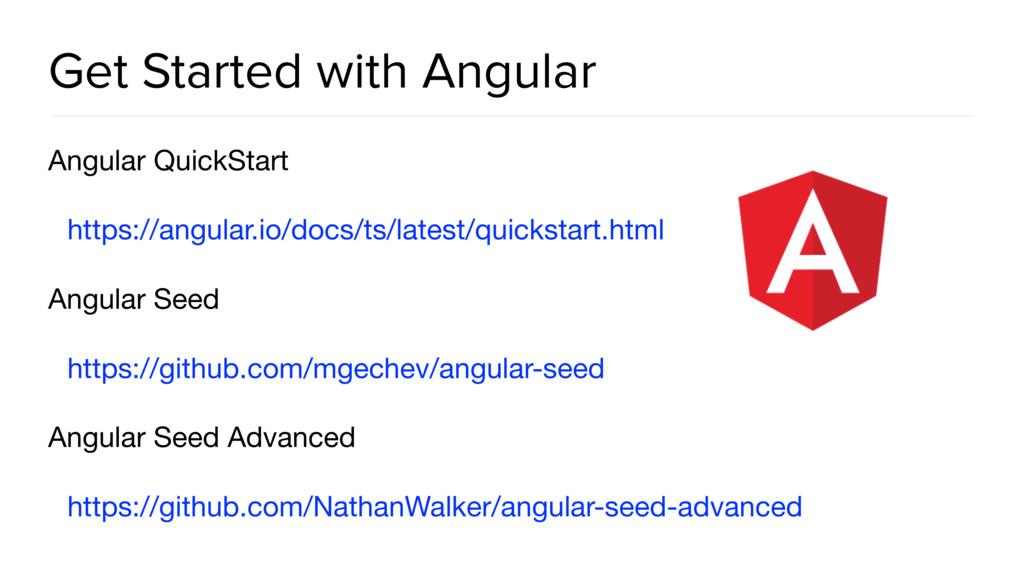 Get Started with Angular Angular QuickStart  ht...