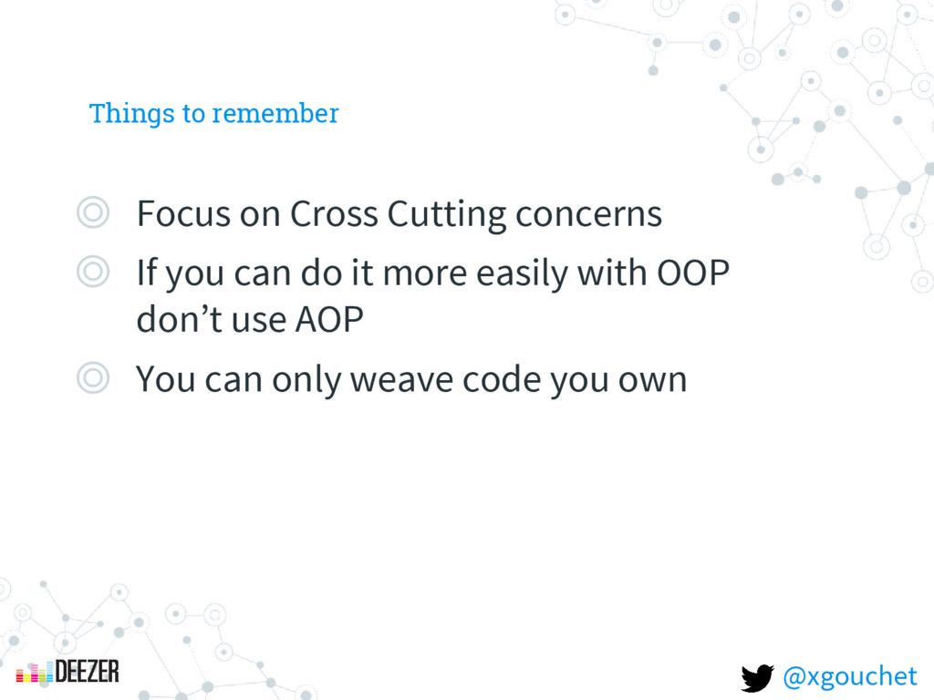Things to remember ◎ Focus on Cross Cutting con...