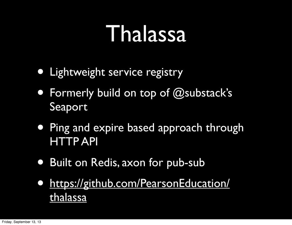 Thalassa • Lightweight service registry • Forme...
