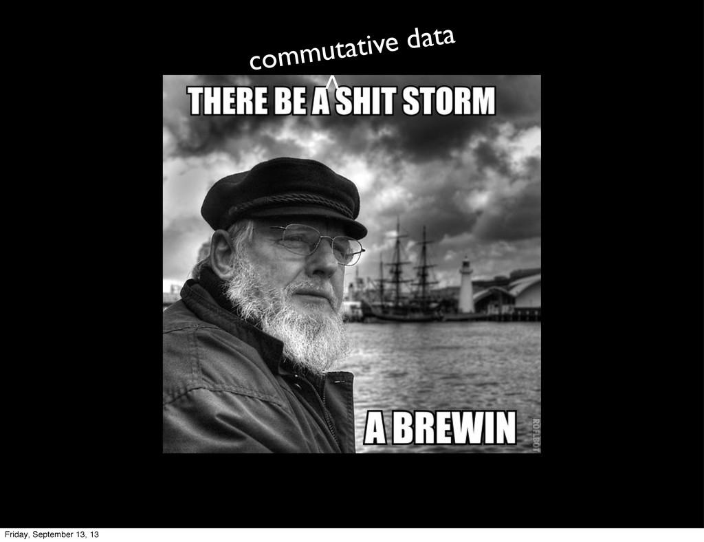 commutative data > Friday, September 13, 13