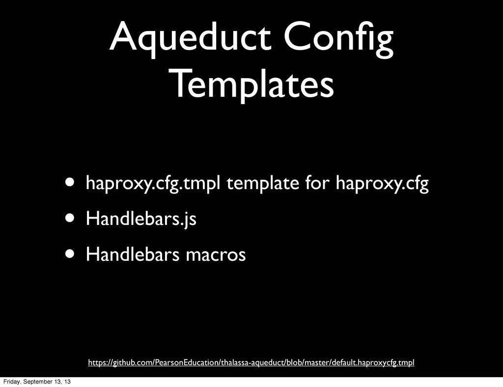 Aqueduct Config Templates • haproxy.cfg.tmpl tem...
