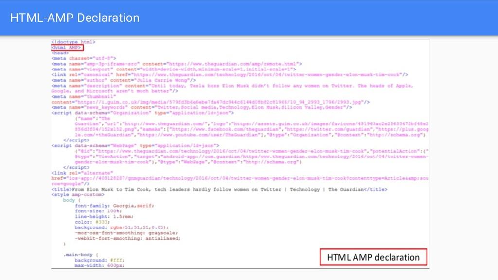 HTML-AMP Declaration