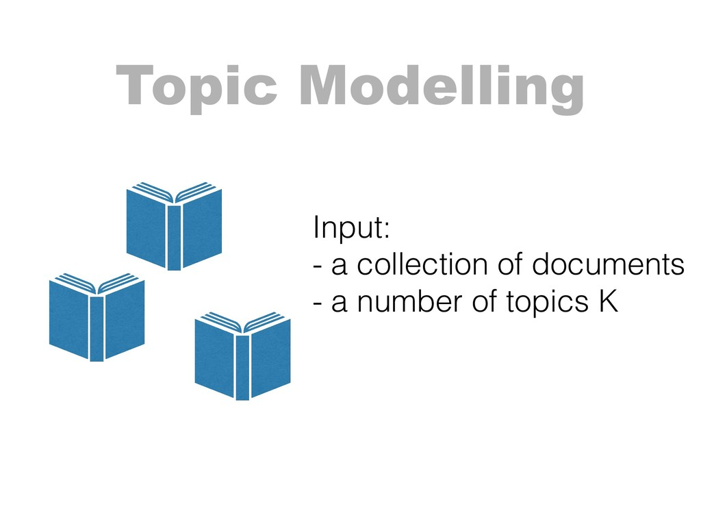 Topic Modelling Input: