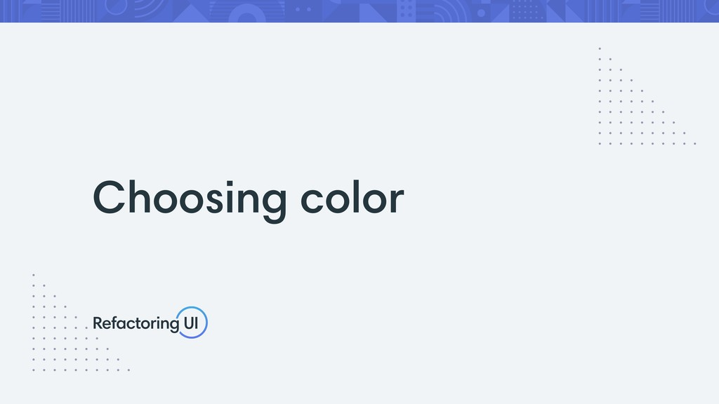 Choosing color
