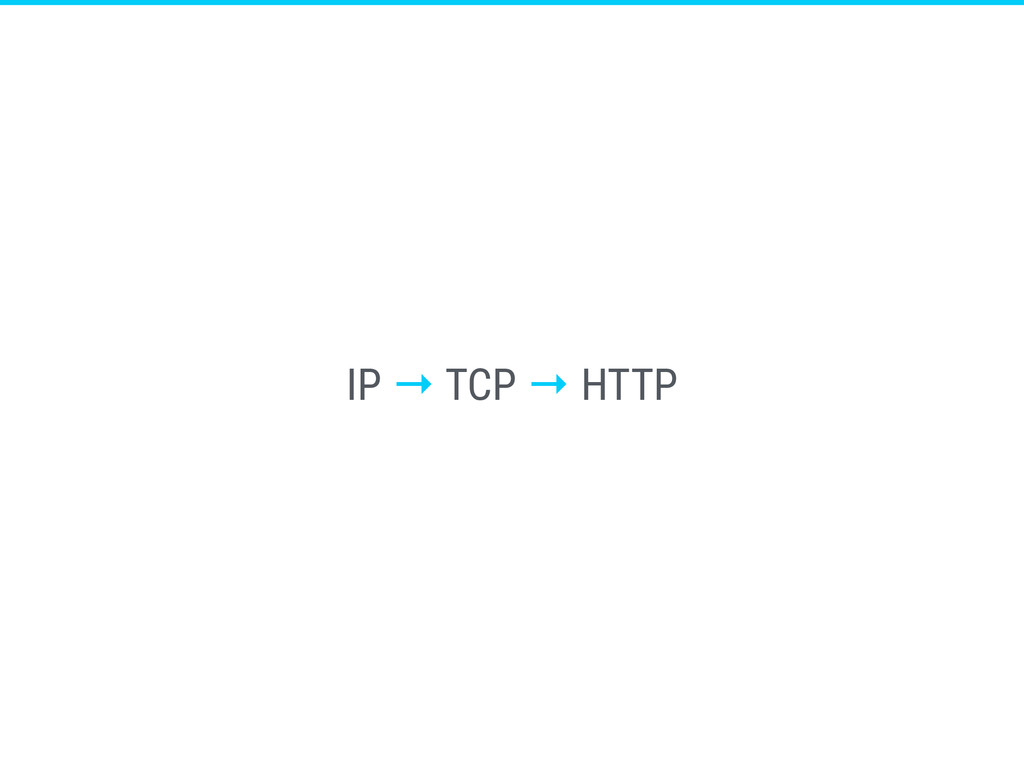IP → TCP → HTTP
