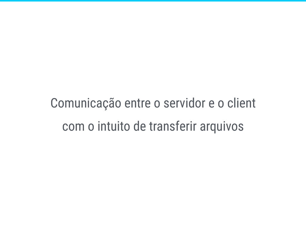 Comunicação entre o servidor e o client com o i...