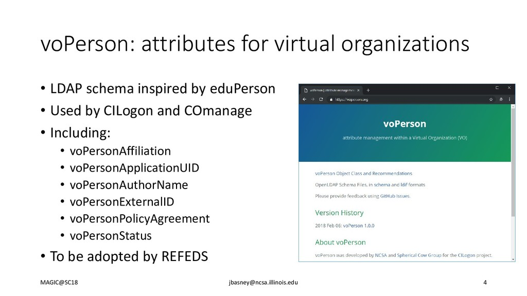 voPerson: attributes for virtual organizations ...