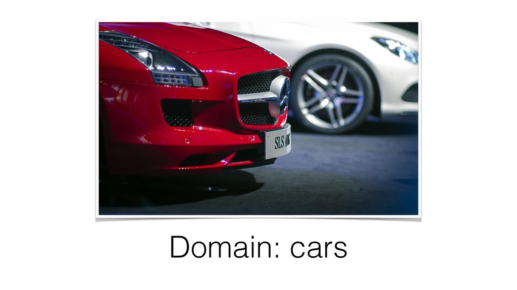 Domain: cars