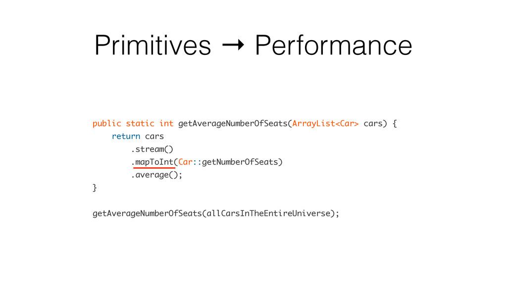Primitives → Performance public static int getA...