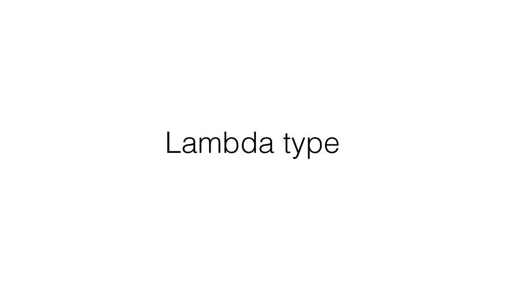 Lambda type