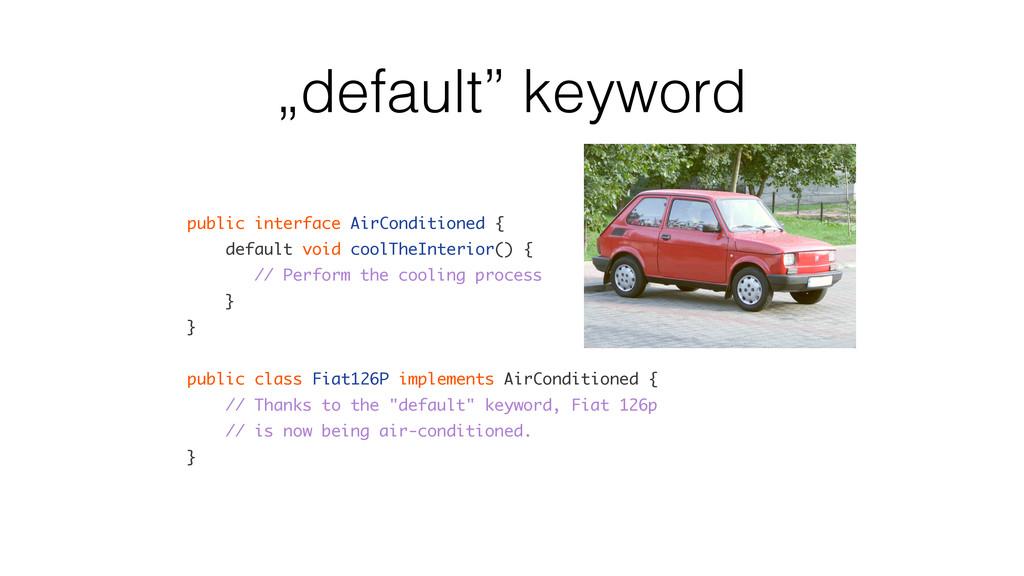 """default"" keyword public interface AirCondition..."