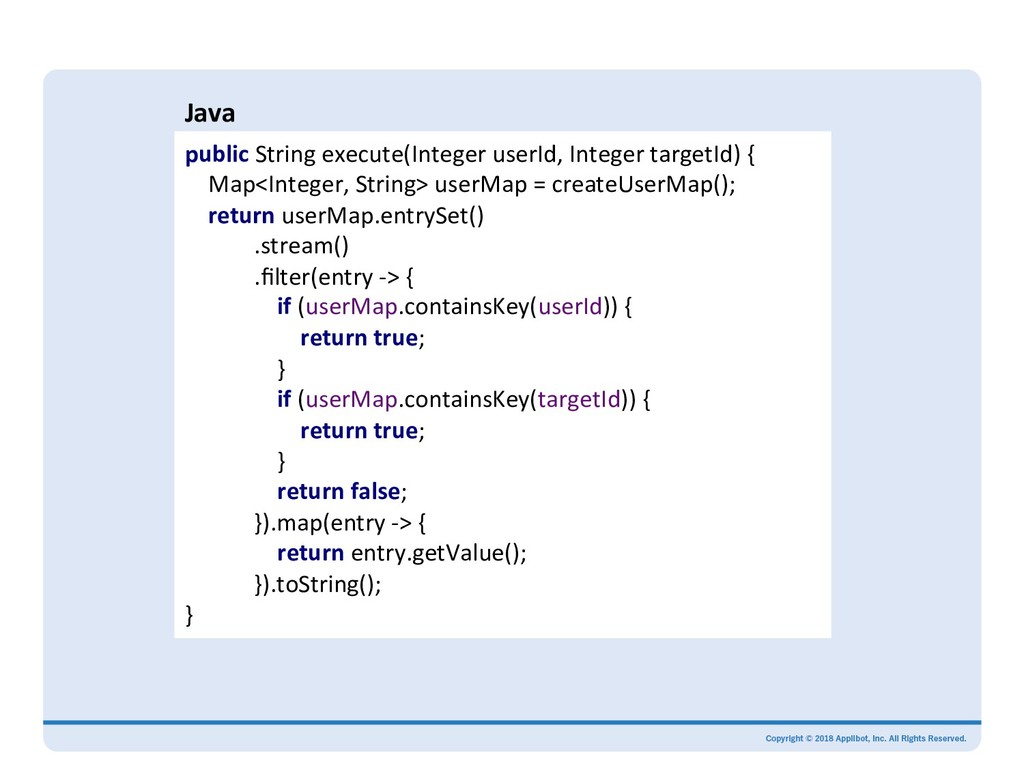 Java public String execute(Integer userId, Inte...