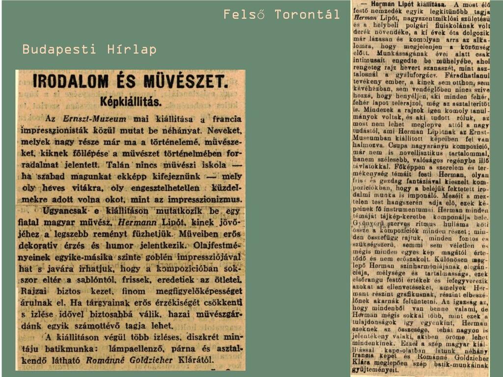 Budapesti Hírlap Felső Torontál