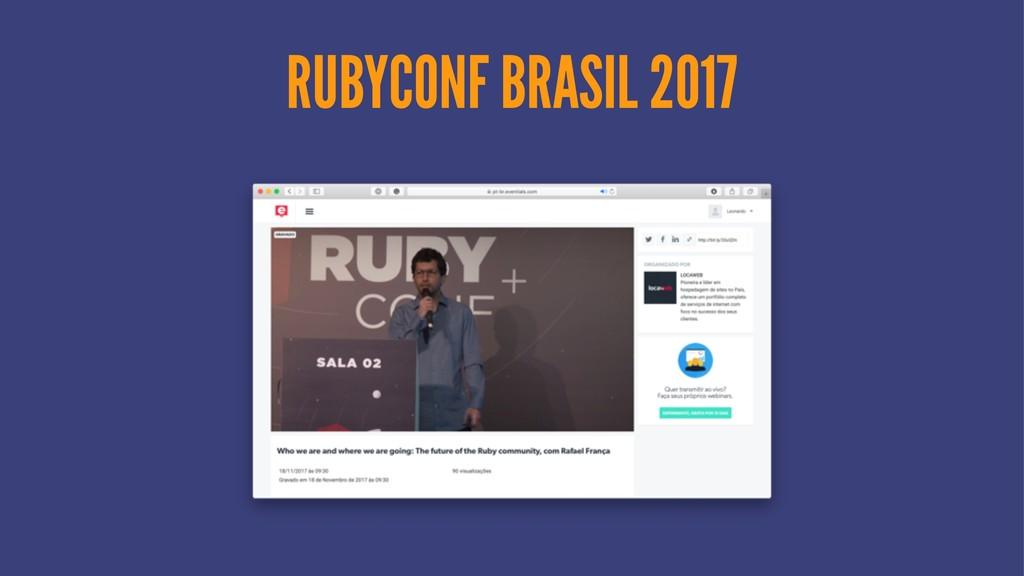 RUBYCONF BRASIL 2017