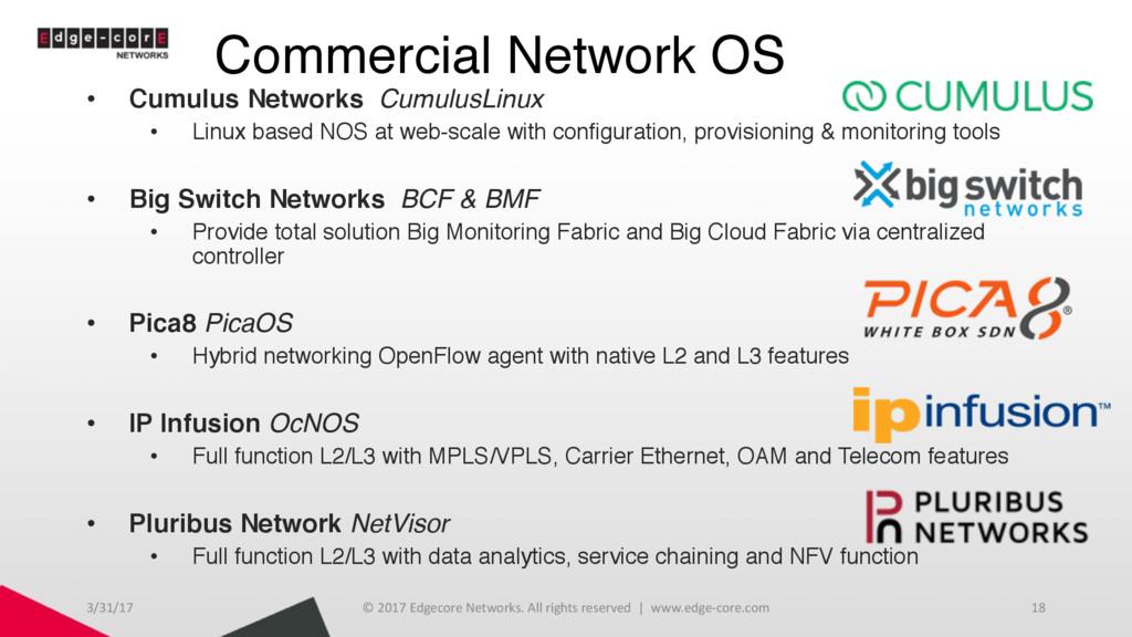 Commercial Network OS • Cumulus Networks Cumulu...