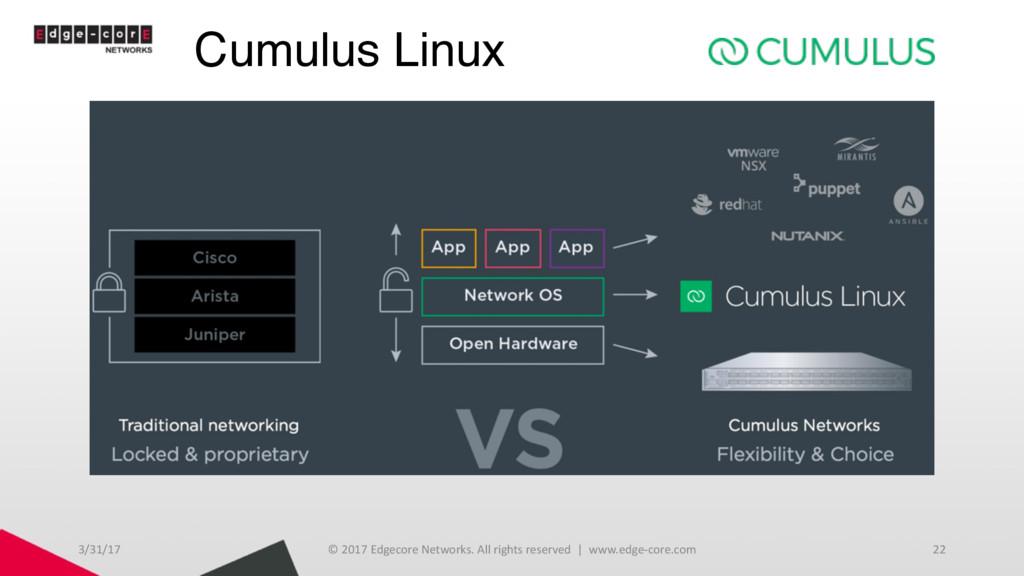 Cumulus Linux 3/31/17 © 2017 Edgecore Networks....