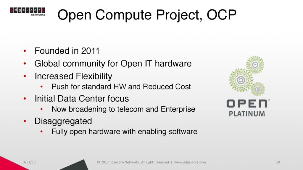 Open Compute Project, OCP • Founded in 2011 • G...