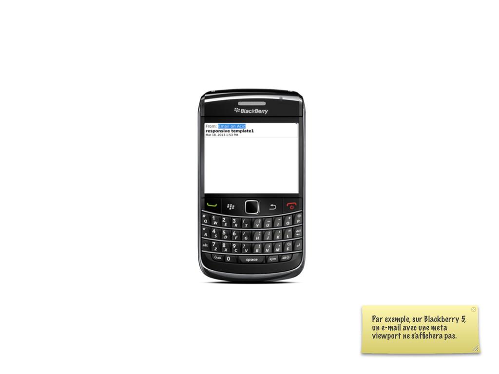 Par exemple, sur Blackberry 5, un e-mail avec u...