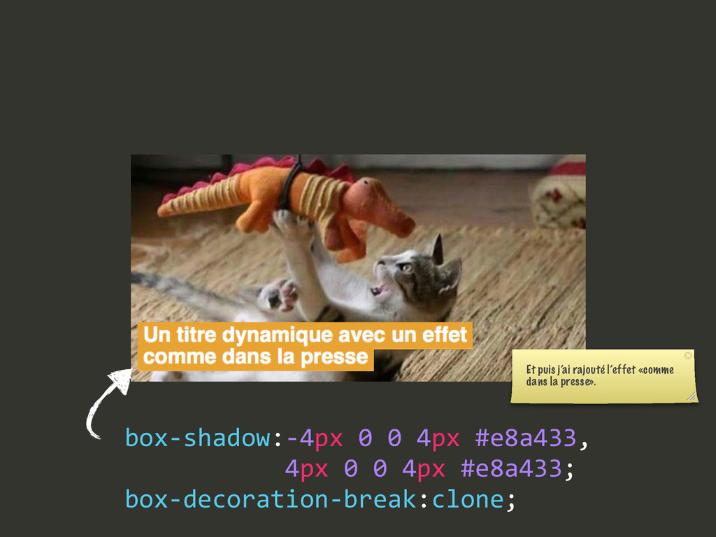 box-‐shadow:-‐4px 0 0 4px #e8a433,    ...
