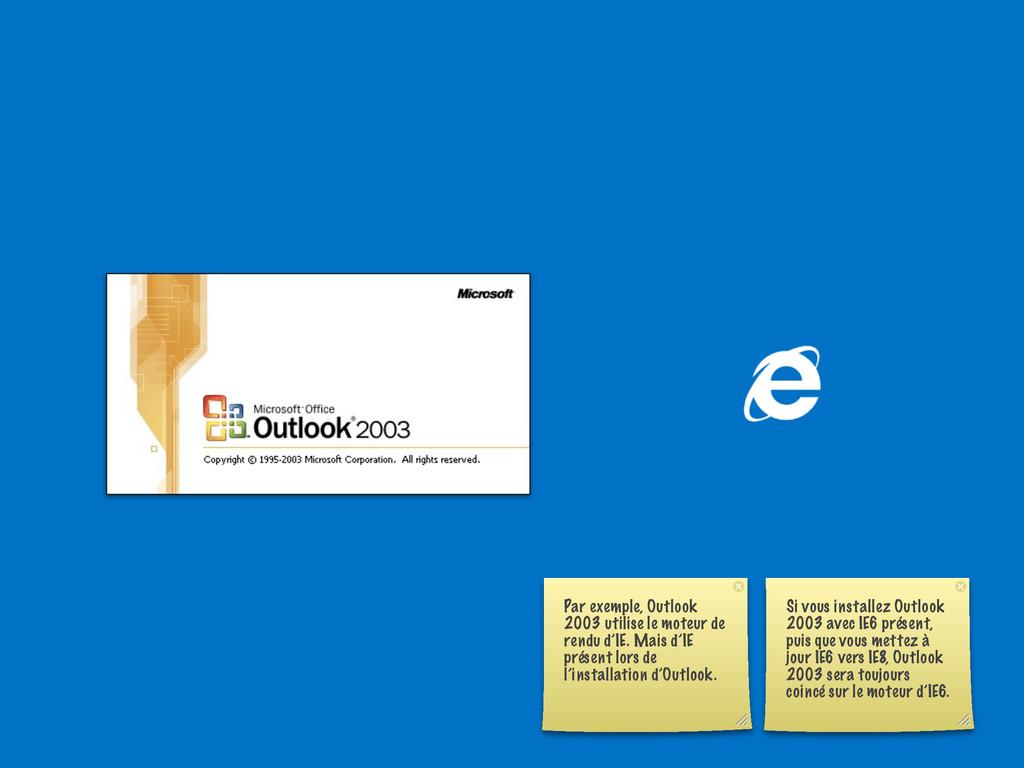 Par exemple, Outlook 2003 utilise le moteur de ...