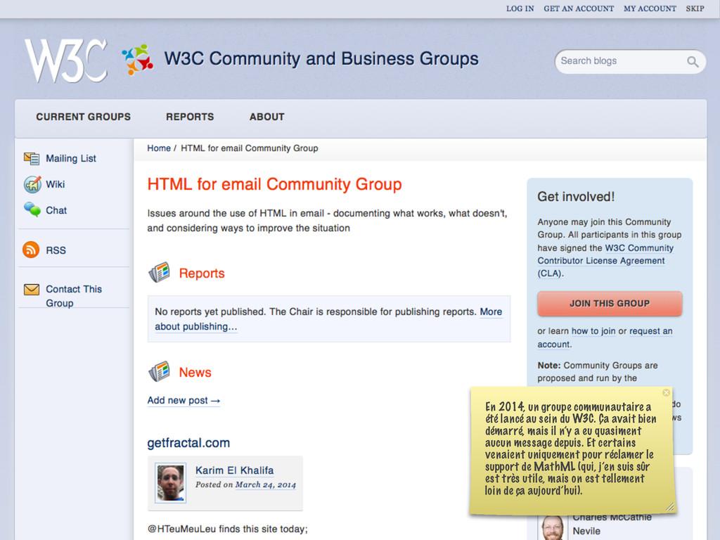 En 2014, un groupe communautaire a été lancé au...