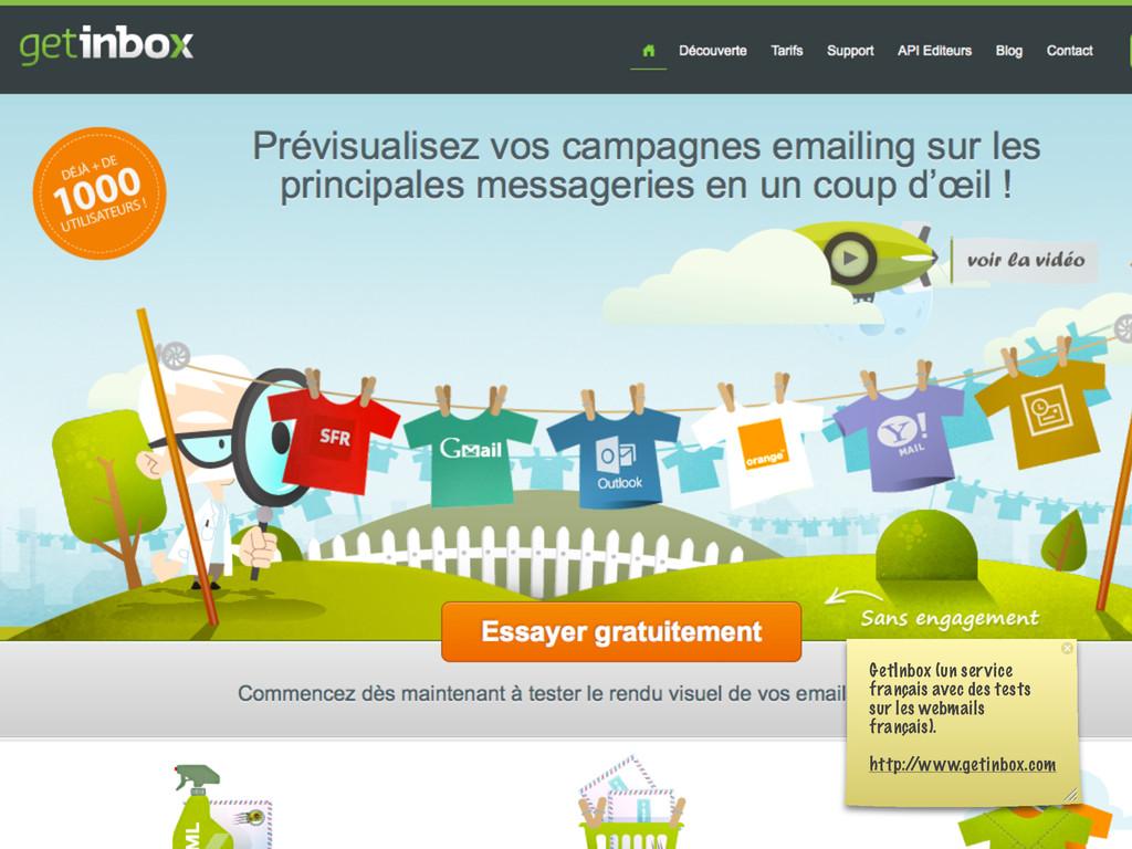 GetInbox (un service français avec des tests su...