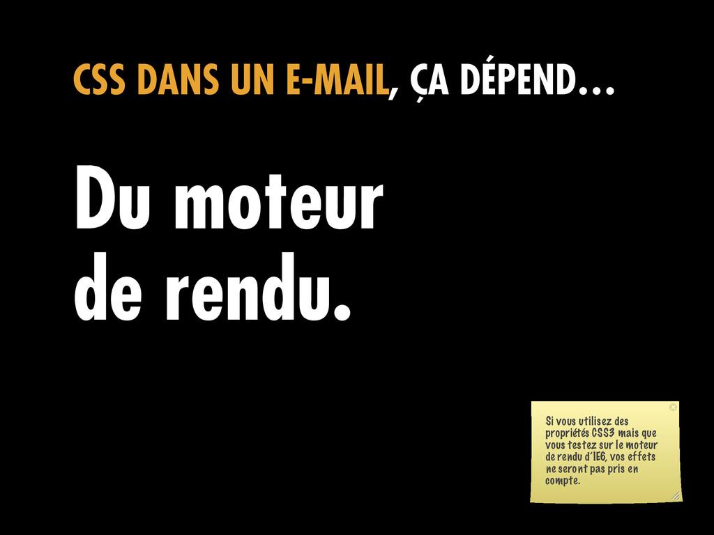 CSS DANS UN E-MAIL, ÇA DÉPEND… Du moteur de ren...