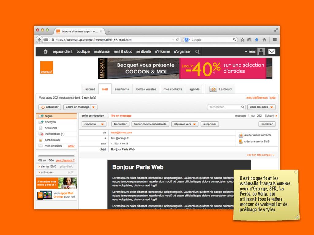 C'est ce que font les webmails français comme c...