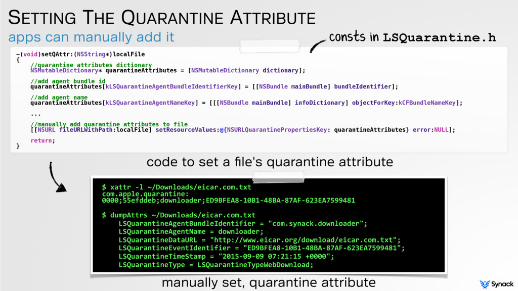 apps can manually add it SETTING THE QUARANTINE...