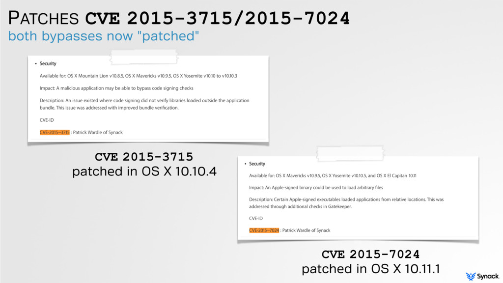PATCHES CVE 2015-3715/2015-7024 both bypasses n...