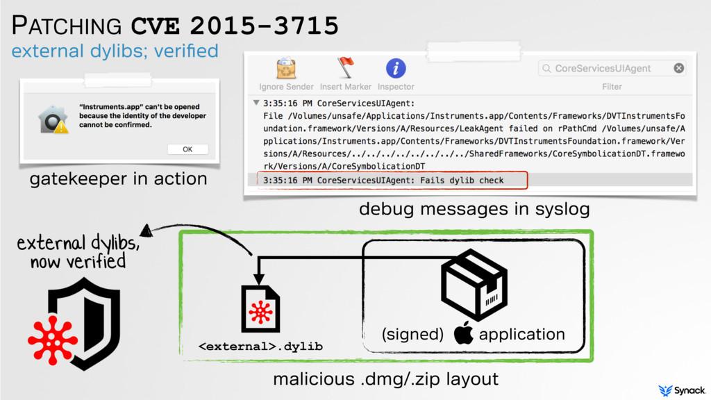 PATCHING CVE 2015-3715 external dylibs; verified...