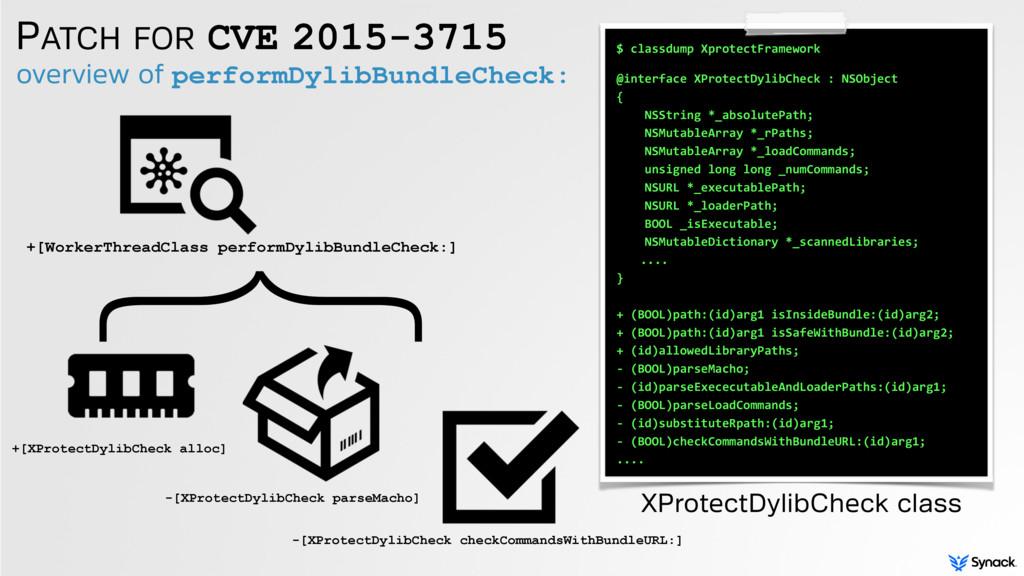 PATCH FOR CVE 2015-3715 +[XProtectDylibCheck al...