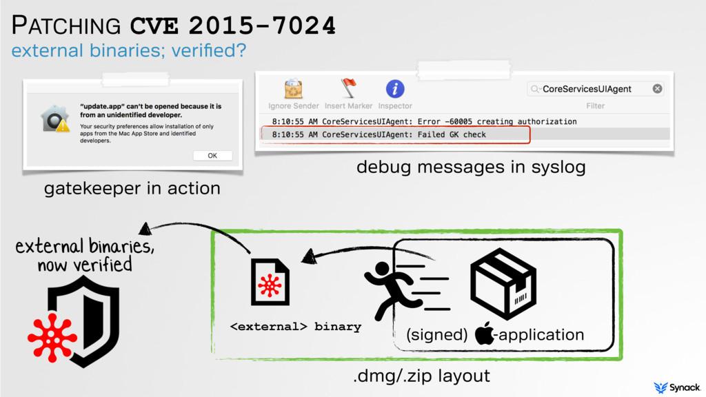 PATCHING CVE 2015-7024 external binaries; verifi...