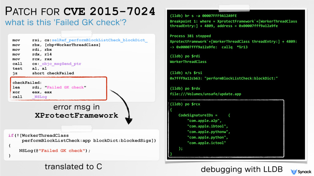 PATCH FOR CVE 2015-7024 what is this 'Failed GK...