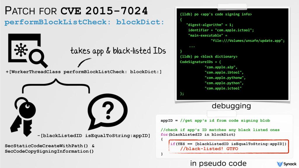 PATCH FOR CVE 2015-7024 performBlockListCheck: ...