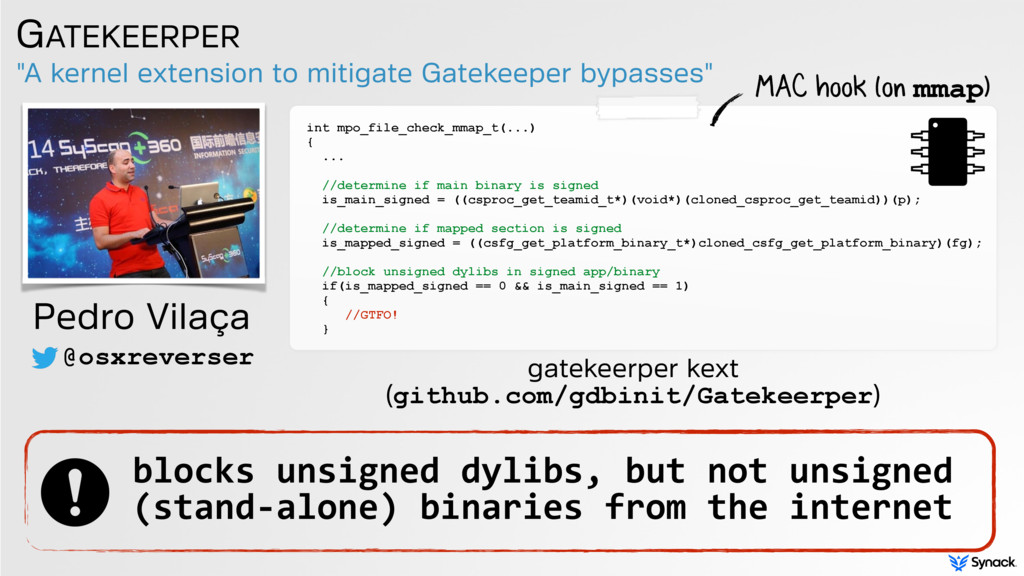 """""""A kernel extension to mitigate Gatekeeper bypa..."""
