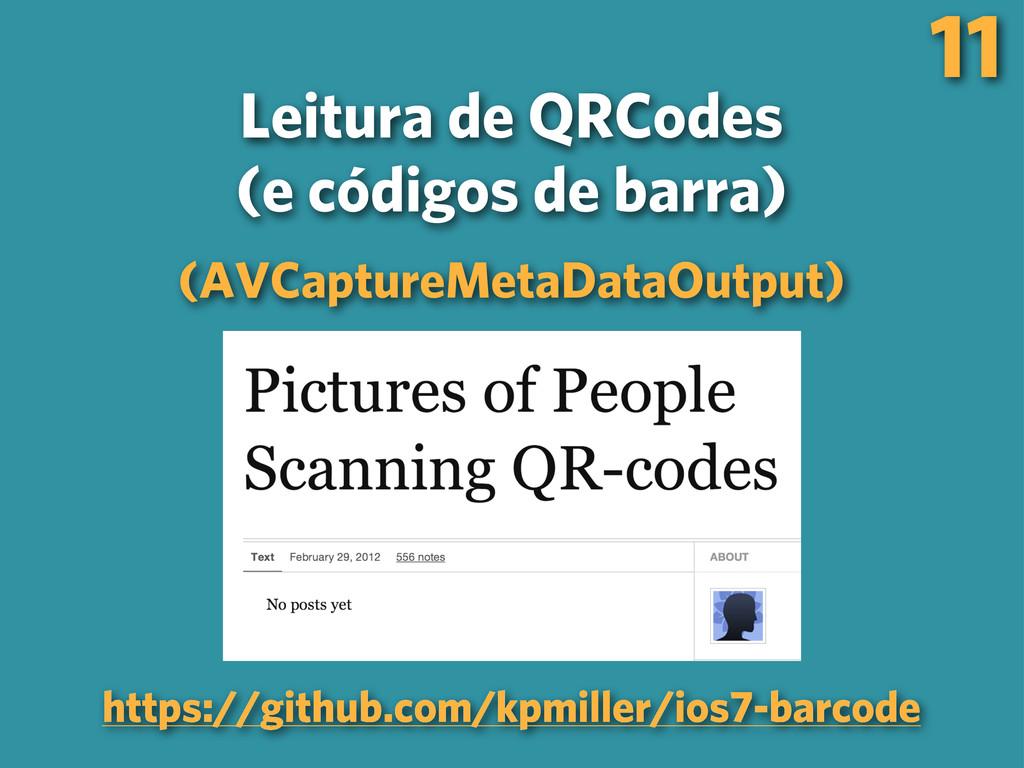 Leitura de QRCodes (e códigos de barra) (AVCapt...