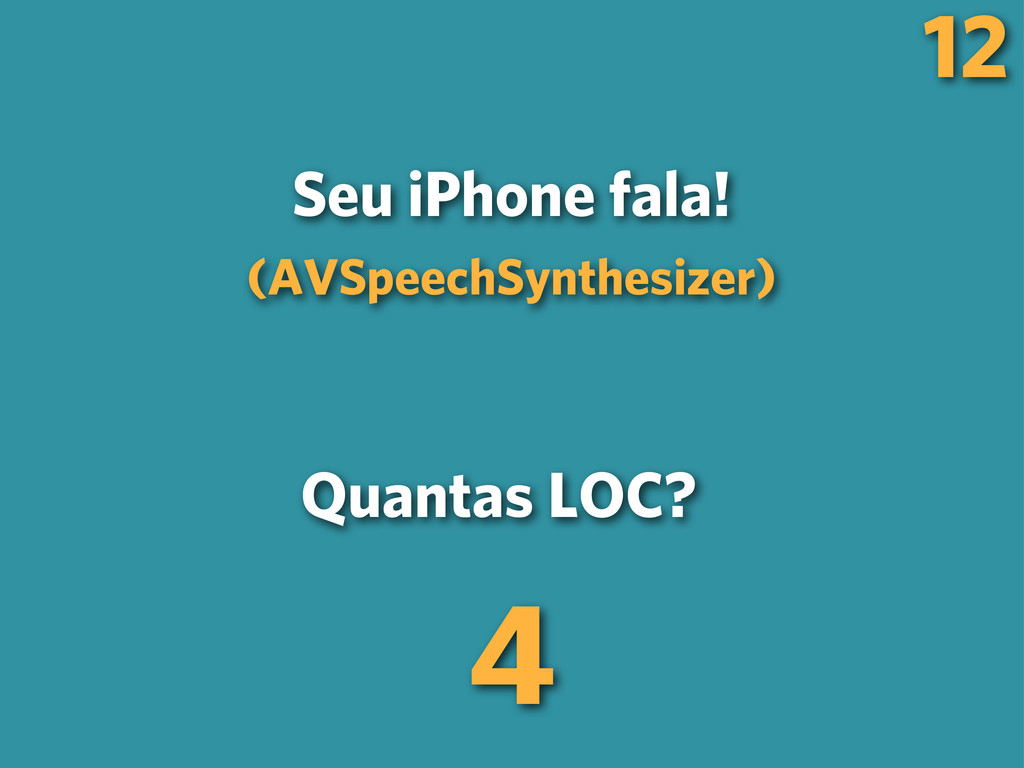 12 Seu iPhone fala! (AVSpeechSynthesizer) Quant...