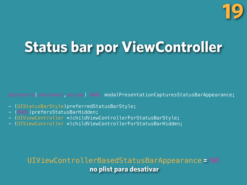 Status bar por ViewController 19 UIViewControll...