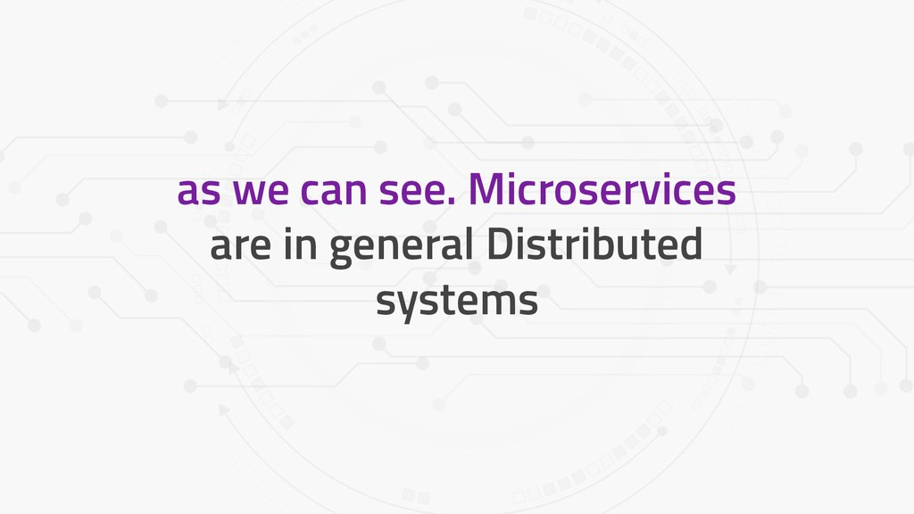 as we can see. Microservices are in general Dis...