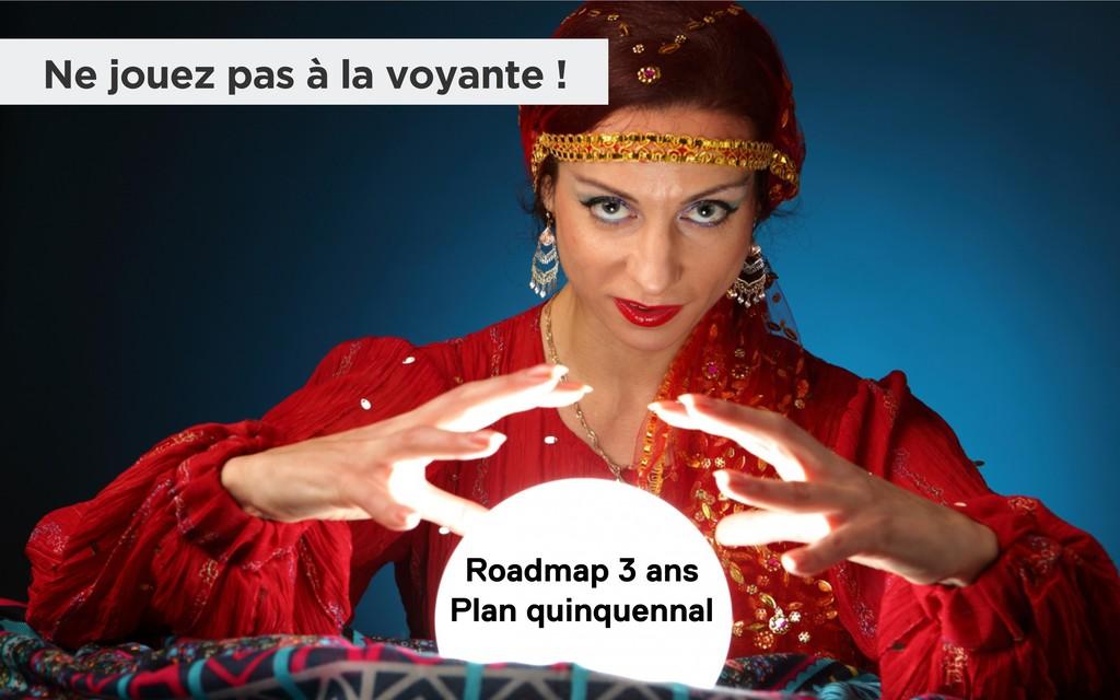 Roadmap 3 ans Plan quinquennal Ne jouez pas à l...
