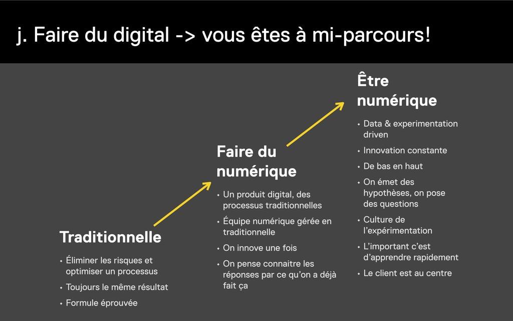 j. Faire du digital -> vous êtes à mi-parcours!