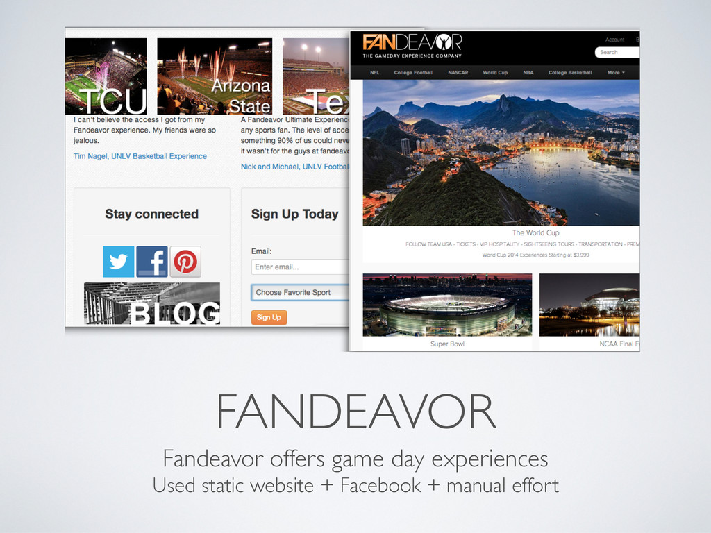 FANDEAVOR Fandeavor offers game day experiences...
