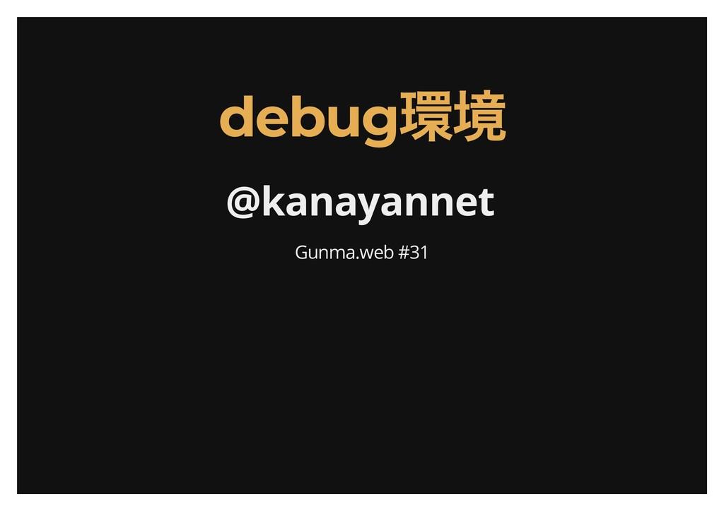 debug 環境 debug 環境 @kanayannet Gunma.web #31