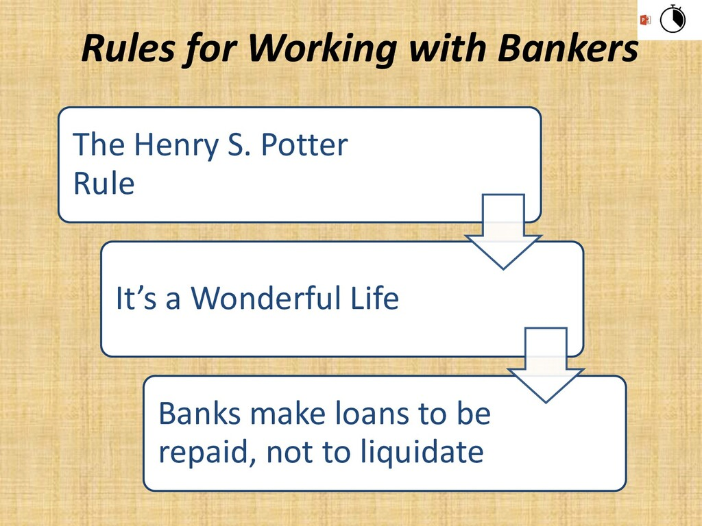 The Henry S. Potter Rule It's a Wonderful Life ...